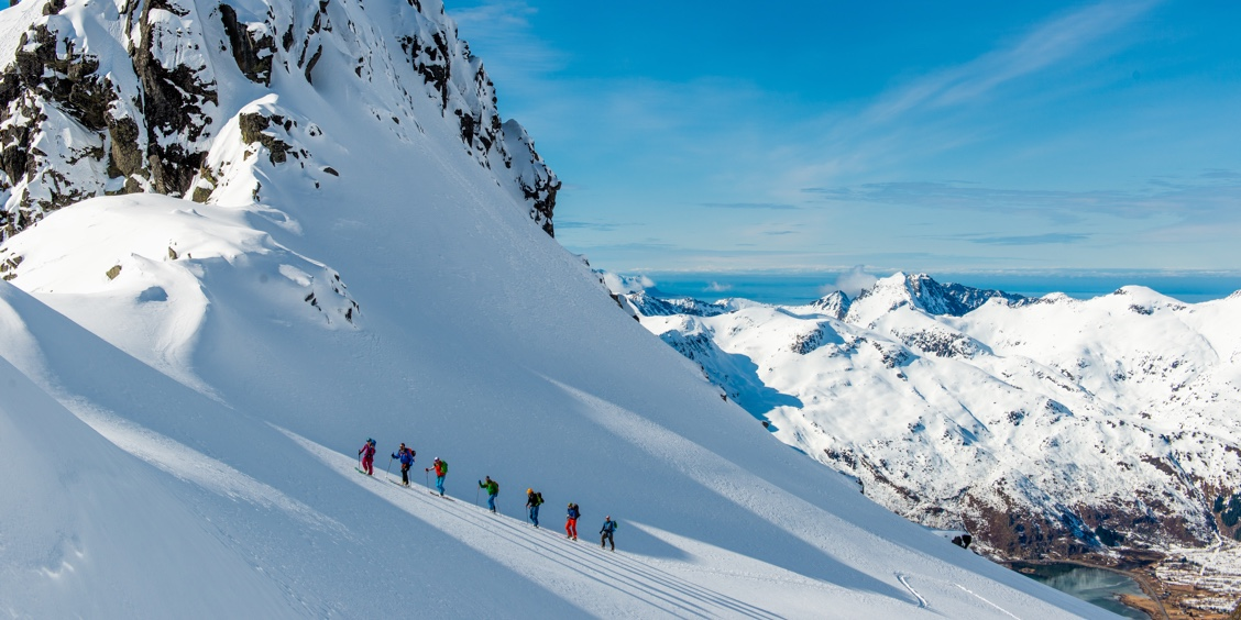 Ski touring in Lofoten